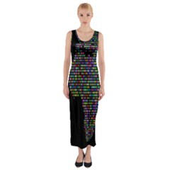 World Earth Planet Globe Map Fitted Maxi Dress