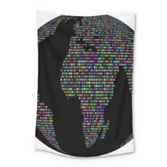 World Earth Planet Globe Map Small Tapestry