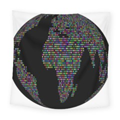 World Earth Planet Globe Map Square Tapestry (large)