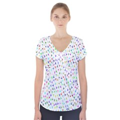 Pointer Direction Arrows Navigation Short Sleeve Front Detail Top