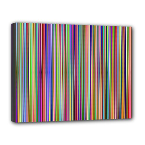 Striped Stripes Abstract Geometric Canvas 14  X 11