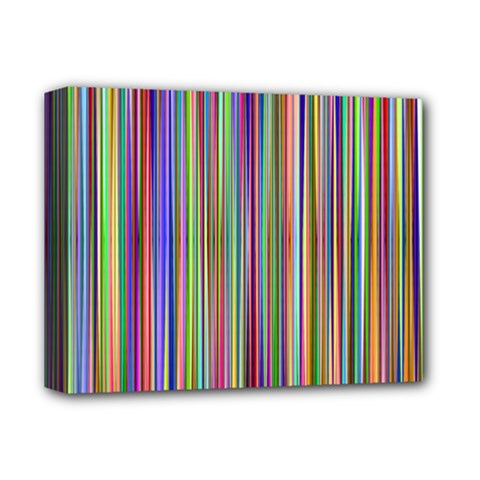 Striped Stripes Abstract Geometric Deluxe Canvas 14  X 11