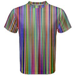 Striped Stripes Abstract Geometric Men s Cotton Tee