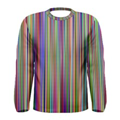 Striped Stripes Abstract Geometric Men s Long Sleeve Tee