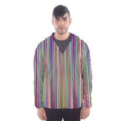 Striped Stripes Abstract Geometric Hooded Wind Breaker (men)
