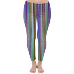 Striped Stripes Abstract Geometric Classic Winter Leggings