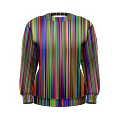 Striped Stripes Abstract Geometric Women s Sweatshirt