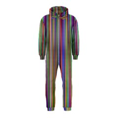 Striped Stripes Abstract Geometric Hooded Jumpsuit (kids)