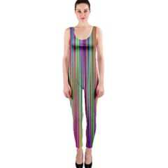 Striped Stripes Abstract Geometric Onepiece Catsuit