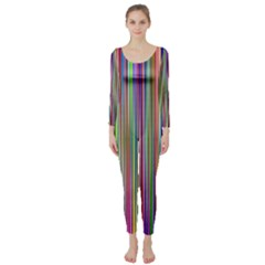 Striped Stripes Abstract Geometric Long Sleeve Catsuit