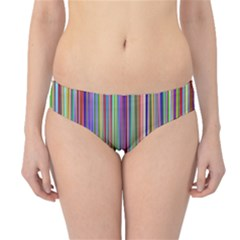 Striped Stripes Abstract Geometric Hipster Bikini Bottoms
