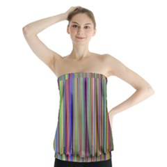 Striped Stripes Abstract Geometric Strapless Top