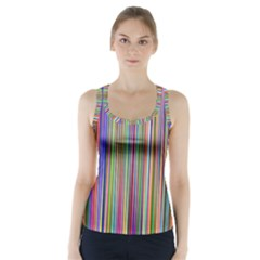 Striped Stripes Abstract Geometric Racer Back Sports Top