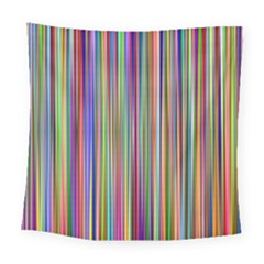 Striped Stripes Abstract Geometric Square Tapestry (large)