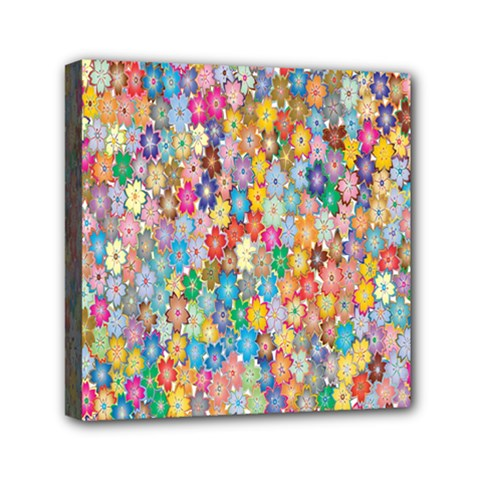 Sakura Cherry Blossom Floral Mini Canvas 6  X 6