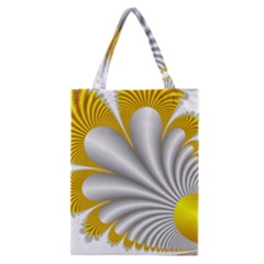 Fractal Gold Palm Tree  Classic Tote Bag