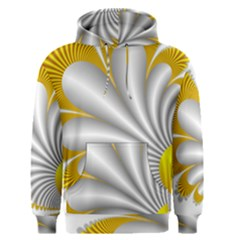 Fractal Gold Palm Tree  Men s Pullover Hoodie