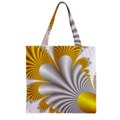 Fractal Gold Palm Tree  Zipper Grocery Tote Bag