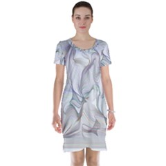 Abstract Background Chromatic Short Sleeve Nightdress