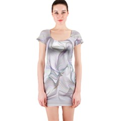 Abstract Background Chromatic Short Sleeve Bodycon Dress