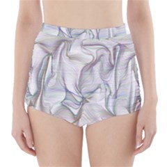 Abstract Background Chromatic High-Waisted Bikini Bottoms