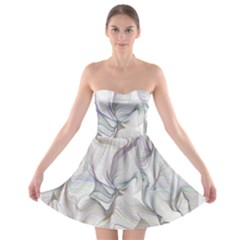 Abstract Background Chromatic Strapless Bra Top Dress