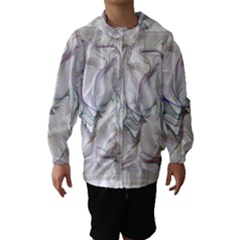 Abstract Background Chromatic Hooded Wind Breaker (Kids)
