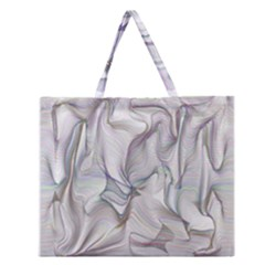 Abstract Background Chromatic Zipper Large Tote Bag