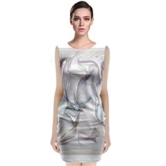 Abstract Background Chromatic Classic Sleeveless Midi Dress