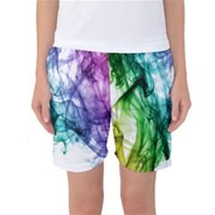 Colour Smoke Rainbow Color Design Women s Basketball Shorts