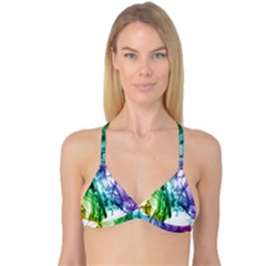 Colour Smoke Rainbow Color Design Reversible Tri Bikini Top