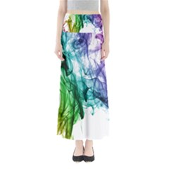 Colour Smoke Rainbow Color Design Maxi Skirts