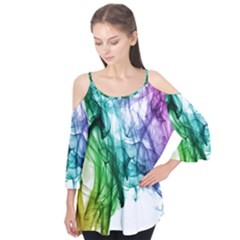 Colour Smoke Rainbow Color Design Flutter Tees