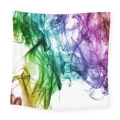 Colour Smoke Rainbow Color Design Square Tapestry (large)