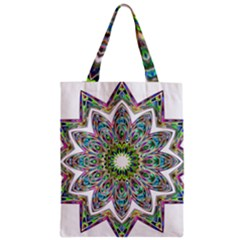 Decorative Ornamental Design Zipper Classic Tote Bag
