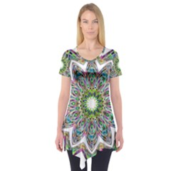Decorative Ornamental Design Short Sleeve Tunic