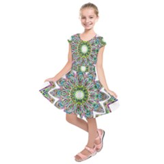Decorative Ornamental Design Kids  Short Sleeve Dress