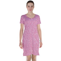 Handwriting  Short Sleeve Nightdress