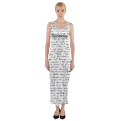 Handwriting  Fitted Maxi Dress