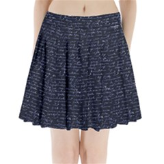 Handwriting Pleated Mini Skirt
