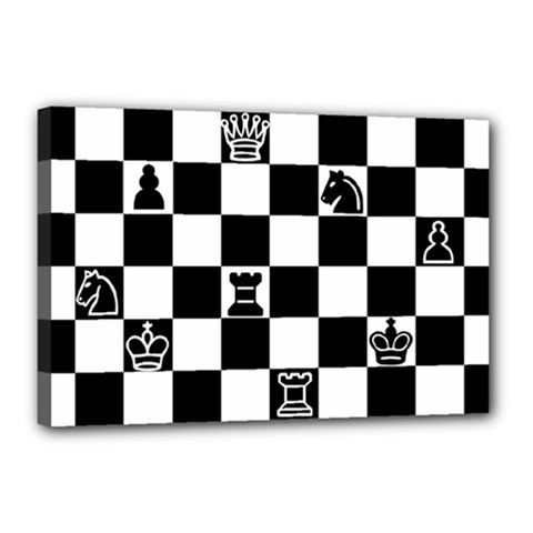 Chess Canvas 18  X 12