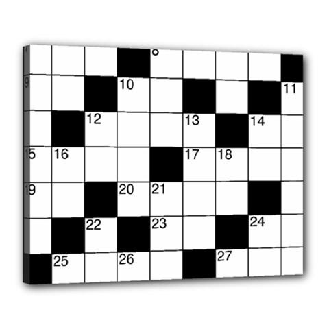 Crosswords  Canvas 20  X 16