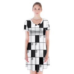 Crosswords  Short Sleeve V-neck Flare Dress