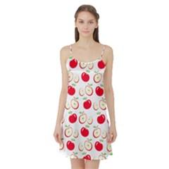 Apple pattern Satin Night Slip