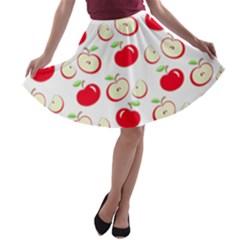 Apple pattern A-line Skater Skirt