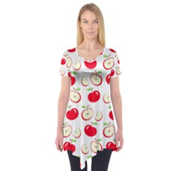 Apple pattern Short Sleeve Tunic