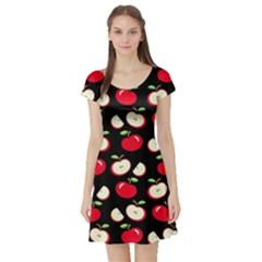 Apple pattern Short Sleeve Skater Dress