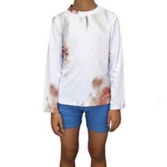 Spotted pattern Kids  Long Sleeve Swimwear