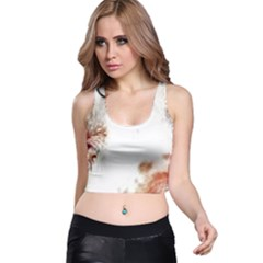 Spotted pattern Racer Back Crop Top