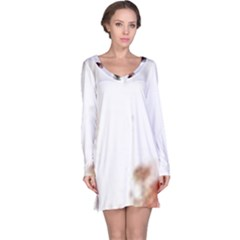 Spotted pattern Long Sleeve Nightdress